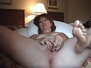 Wifey flashing how she masturbates