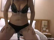 Rebecca playing on her own, stripping off and fucking herself