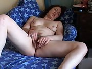 Hairy gash masturbation