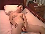 Cate using vibrator and then full of cum