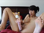 Super-sexy big-chested brunette sexy solo sextape part ii